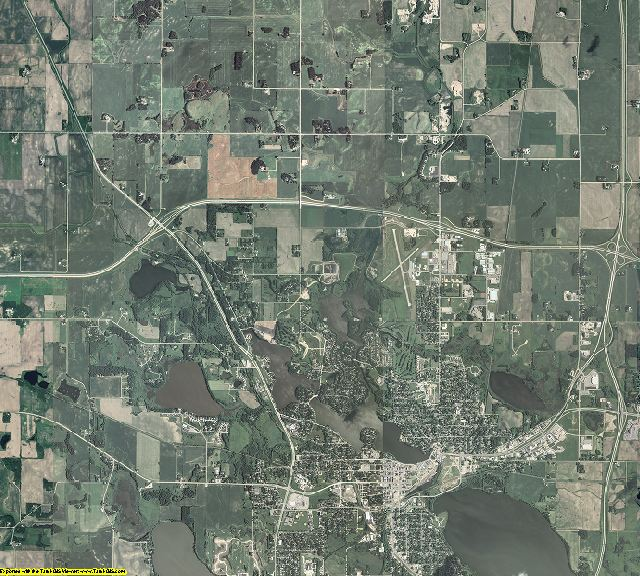 Freeborn County, Minnesota aerial photography