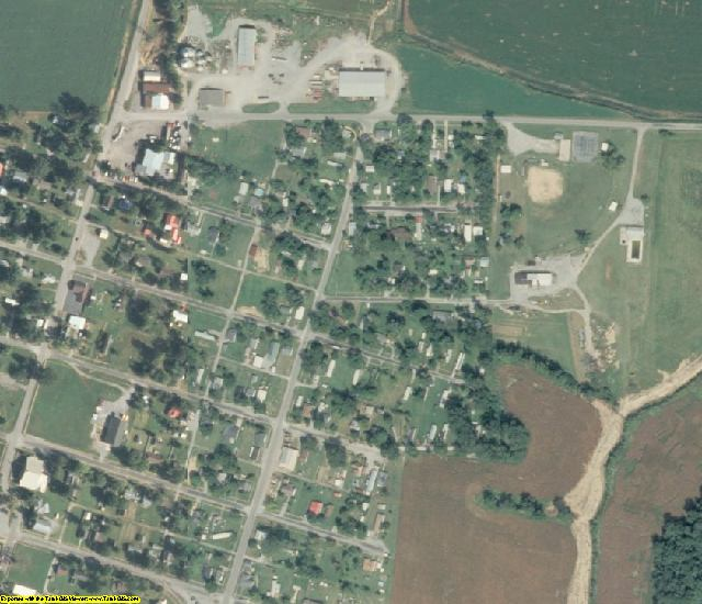 Gallatin County, IL aerial photography detail