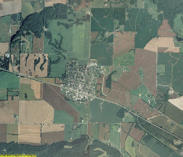 Gallatin County, Illinois aerial photography