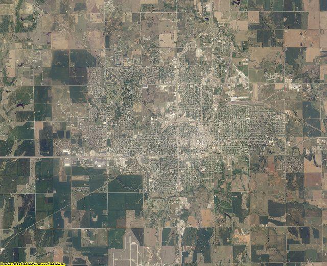 Garfield County, Oklahoma aerial photography
