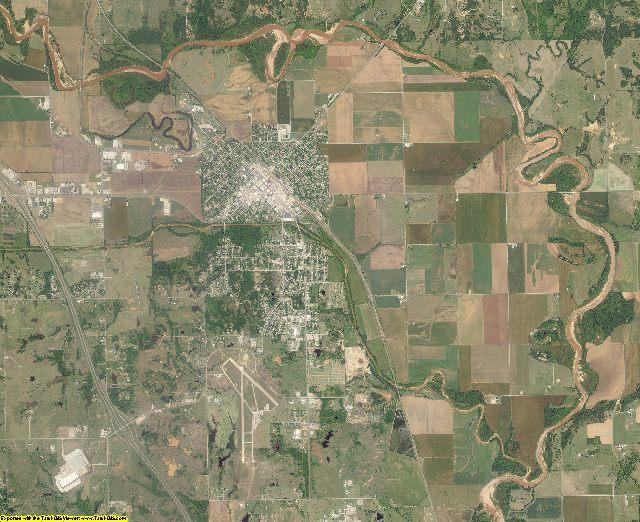 Garvin County, Oklahoma aerial photography