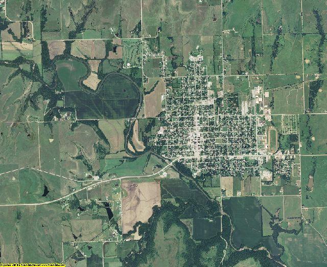 Greenwood County, Kansas aerial photography