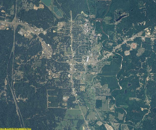 Grenada County, Mississippi aerial photography