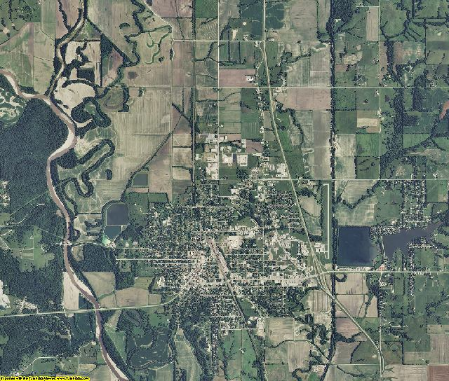 Grundy County, Missouri aerial photography