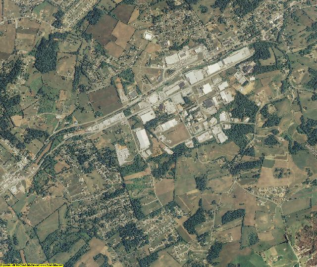 Hamblen County, Tennessee aerial photography