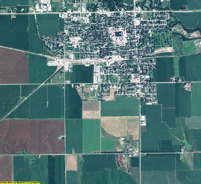 Hamilton County, Nebraska aerial photography