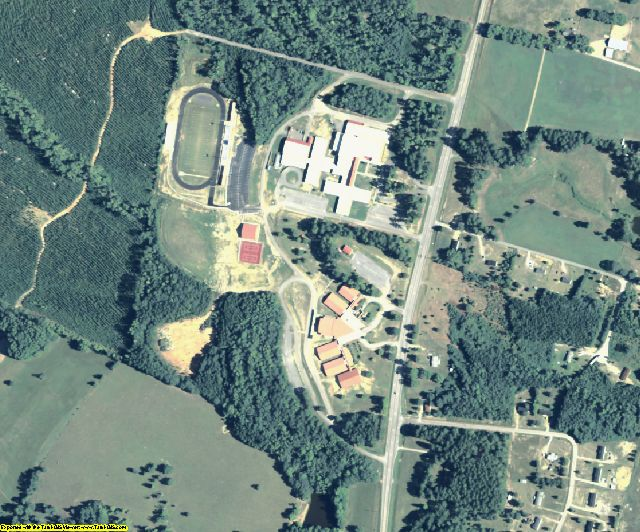 Hancock County, GA aerial photography detail