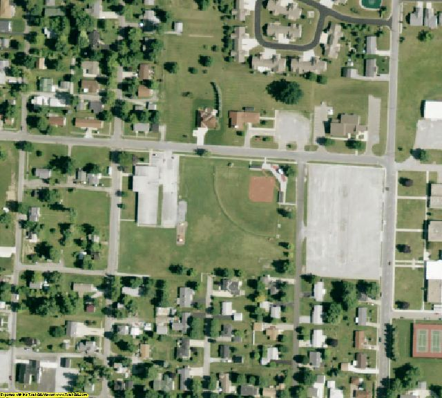 Hardin County, OH aerial photography detail