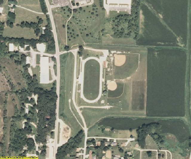 Harrison County, IA aerial photography detail