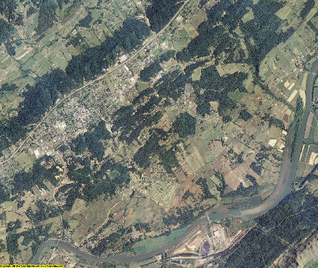 Hawkins County, Tennessee aerial photography