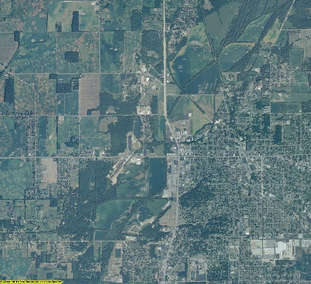 Henry County, Indiana aerial photography