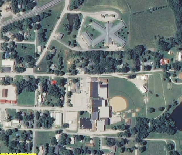 Hickory County, MO aerial photography detail