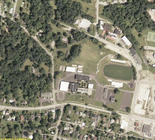 Highland County, OH aerial photography detail