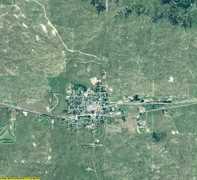 Hooker County, Nebraska aerial photography