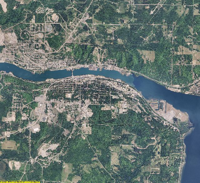 Houghton County, Michigan aerial photography