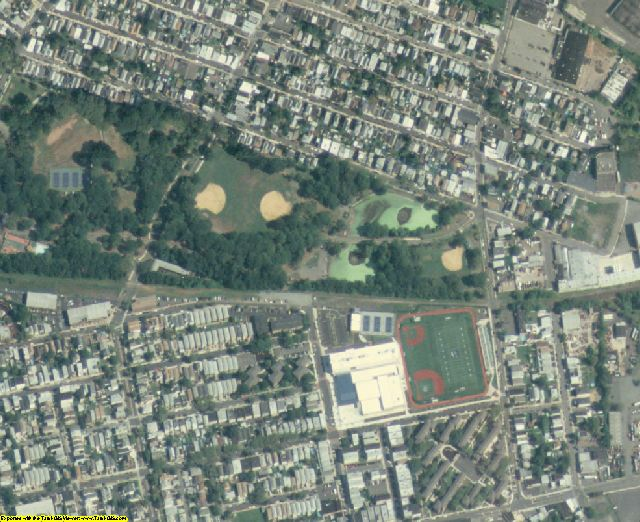 Hudson County, NJ aerial photography detail