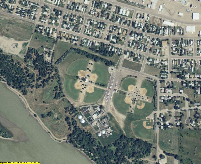 Hughes County, SD aerial photography detail