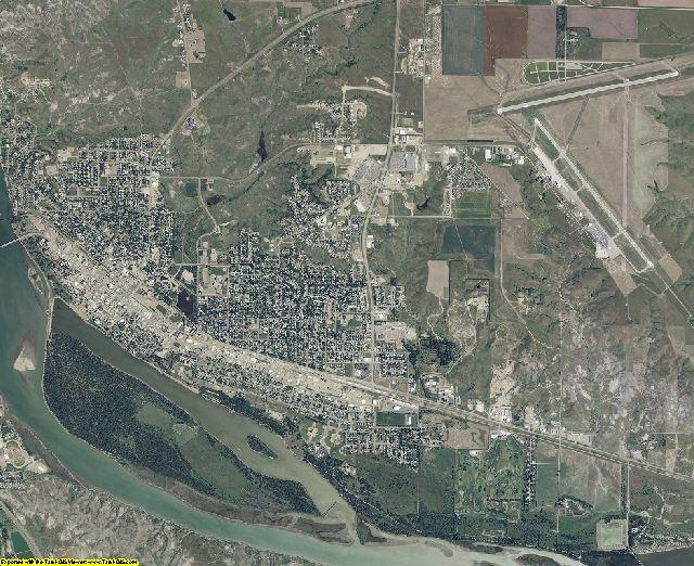 Hughes County, South Dakota aerial photography