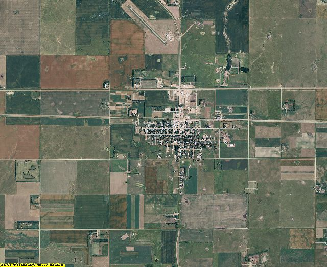 Hyde County, South Dakota aerial photography