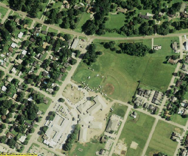 Iberia County, LA aerial photography detail