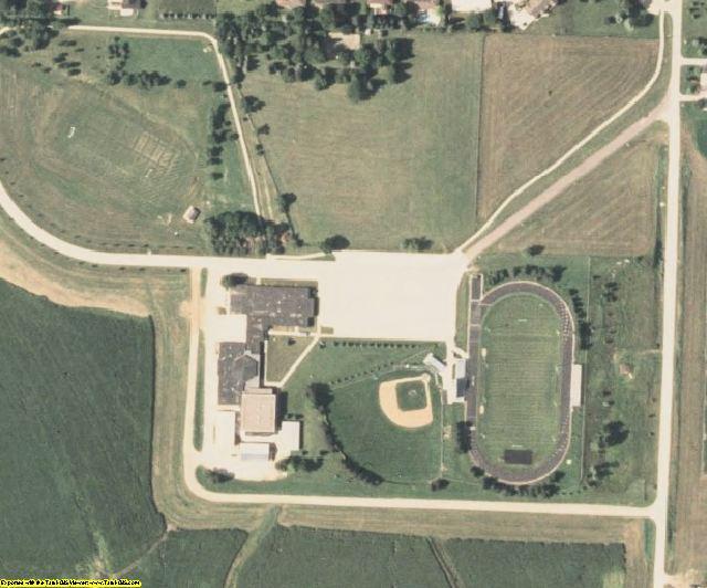 Ida County, IA aerial photography detail