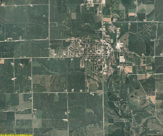 Iowa County, Iowa aerial photography