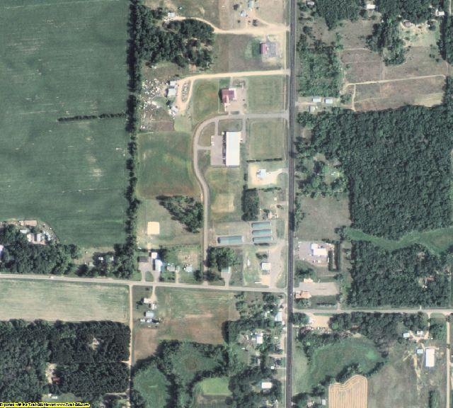 Isanti County, MN aerial photography detail