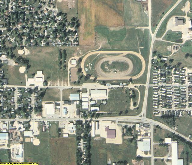 Jackson County, IA aerial photography detail