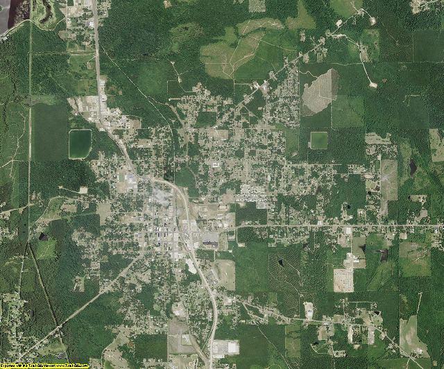 Jackson County, Louisiana aerial photography
