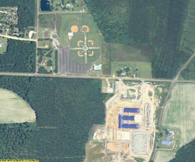 Jeff Davis County, GA aerial photography detail