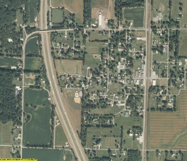 Jefferson County, IL aerial photography detail