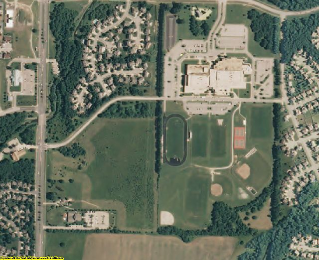Johnson County, KS aerial photography detail