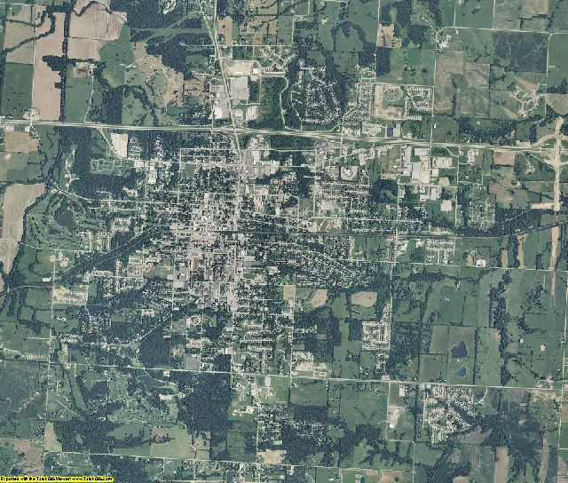 Johnson County, Missouri aerial photography