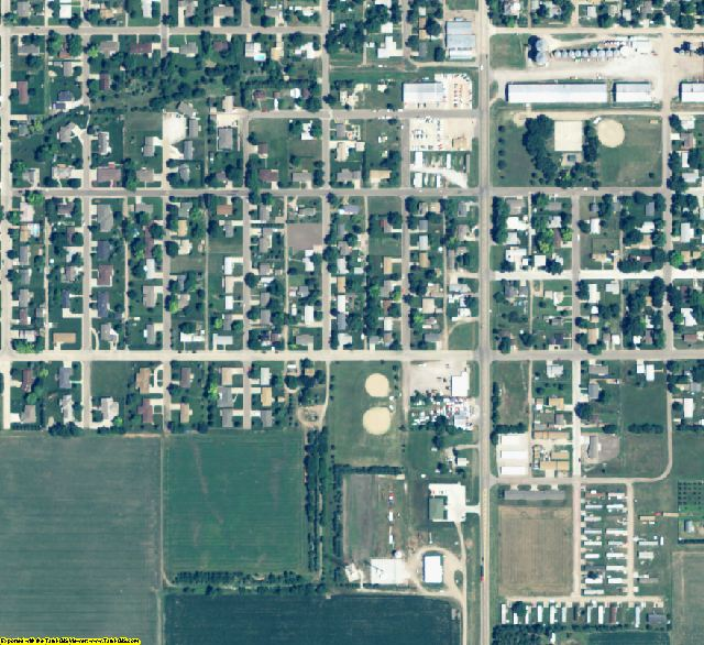 Kearney County, NE aerial photography detail