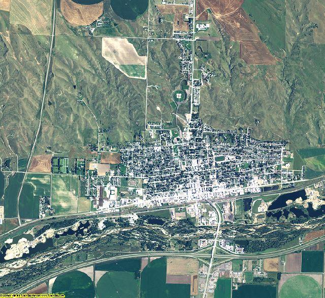 Keith County, Nebraska aerial photography