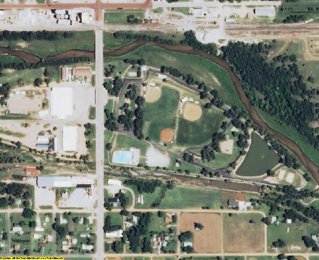 Kingman County, KS aerial photography detail