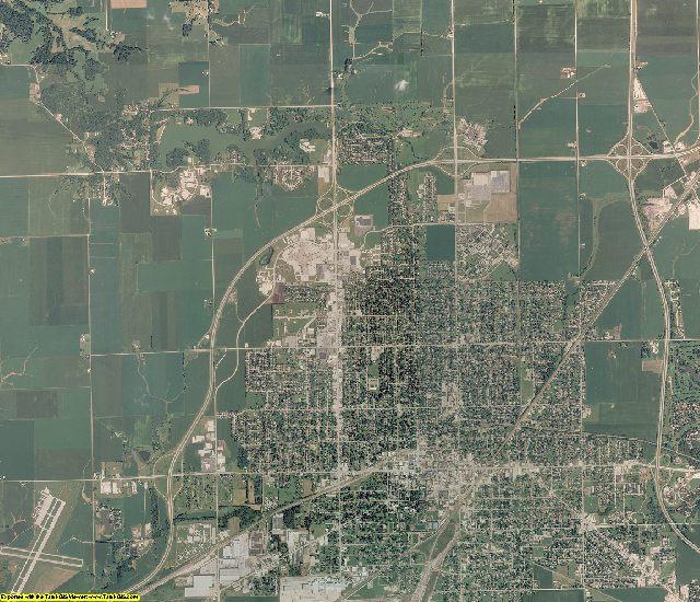 Knox County, Illinois aerial photography
