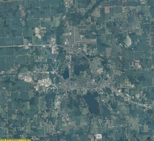 Kosciusko County, Indiana aerial photography