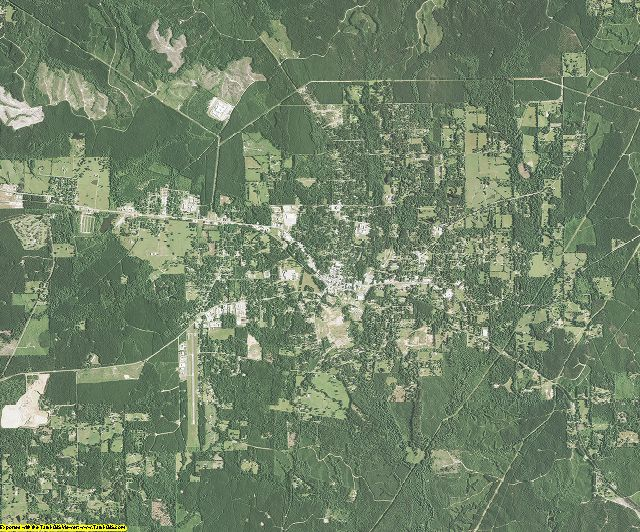La Salle County, Louisiana aerial photography