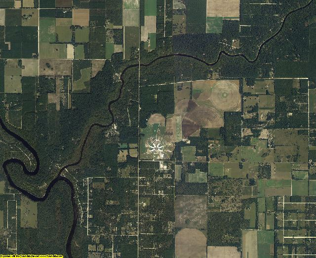 Lafayette County, Florida aerial photography
