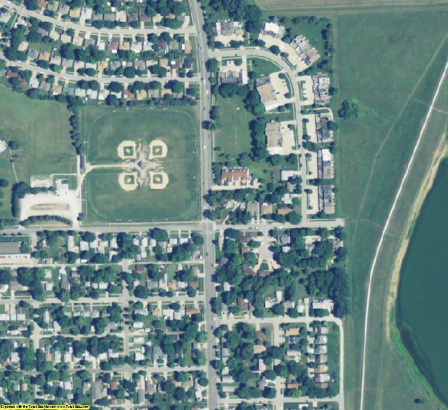 Lancaster County, NE aerial photography detail