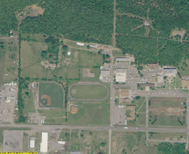 Latimer County, OK aerial photography detail