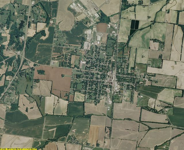 Lauderdale County, Tennessee aerial photography