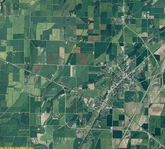 Lawrence County, Arkansas aerial photography
