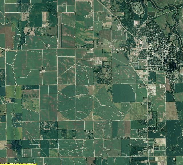 Lee County, Arkansas aerial photography