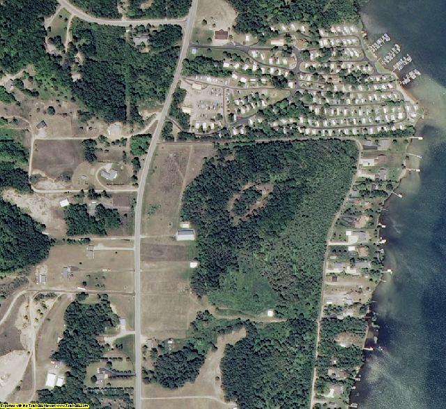 Leelanau County, MI aerial photography detail