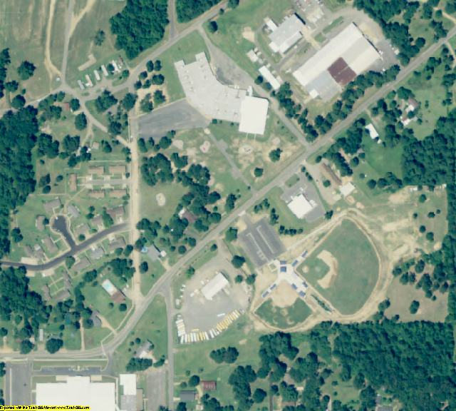 Lincoln County, AR aerial photography detail