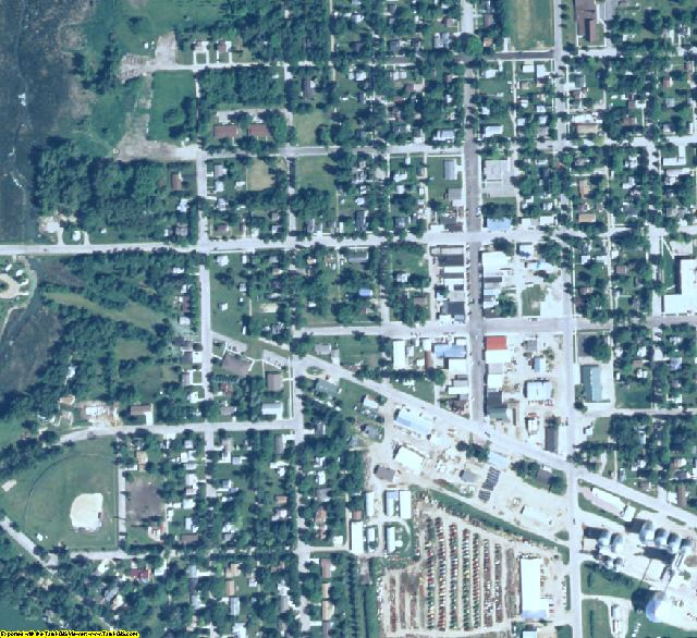 Lincoln County, MN aerial photography detail