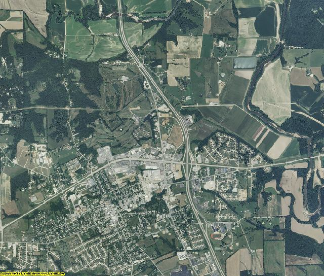 Lincoln County, Missouri aerial photography