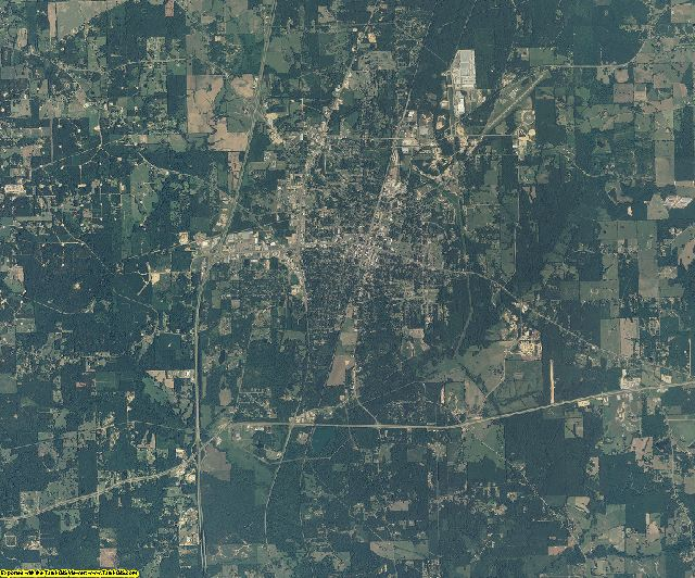 Lincoln County, Mississippi aerial photography